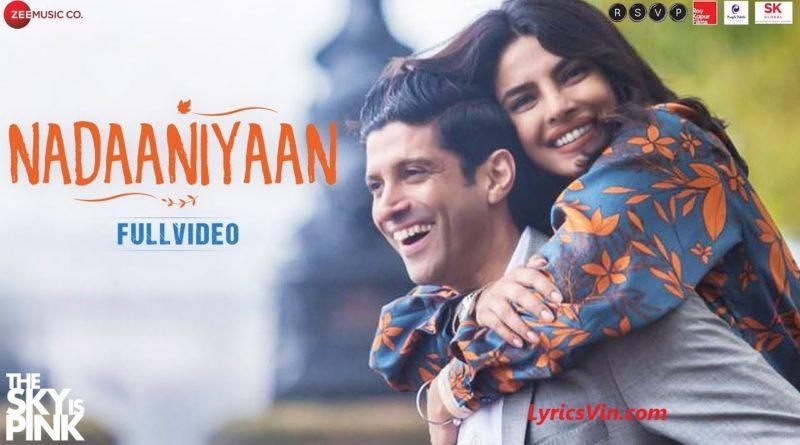 Nadaaniyaan songs lyrics