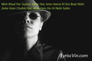 attitude shayari lyricsvin love shayari